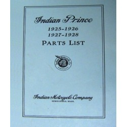 Indian Prince Parts List Manual